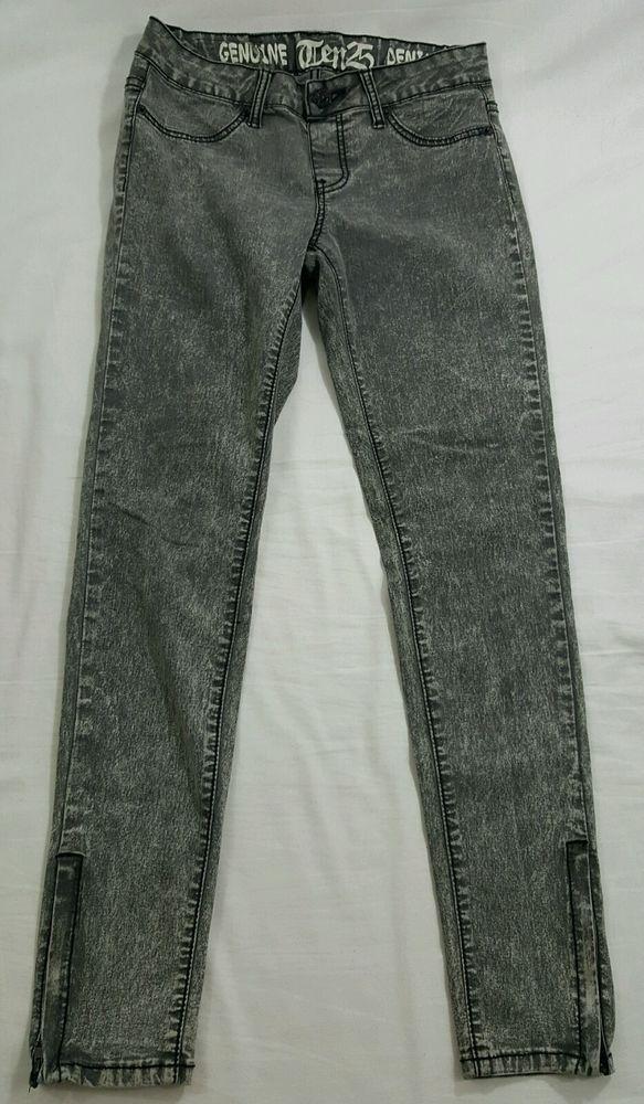 Ten25 Genuine Gray Denim Slim Skinny Stretch Jeans Women's Size 7/8  #Ten25 #SlimSkinny