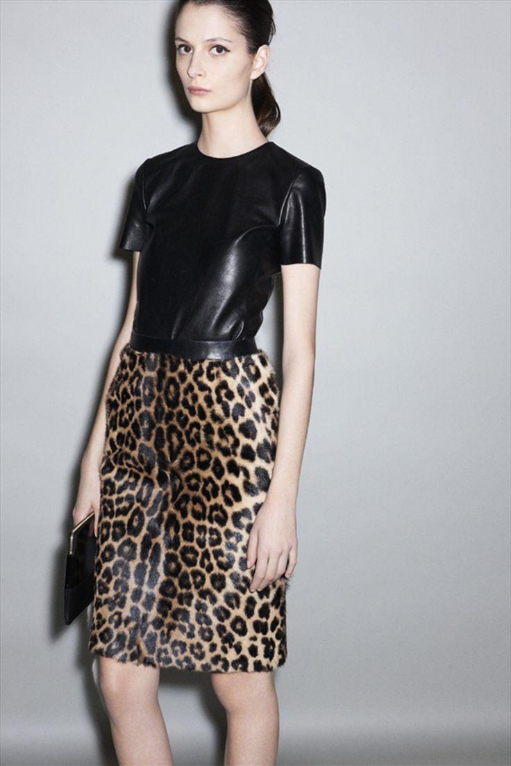 calf hair skirt, Celine.