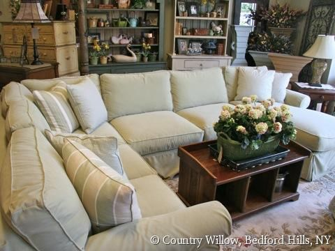 Country Willow Furniture Nice Plush Sectional Too Big For My Room But Like The Look Ideas