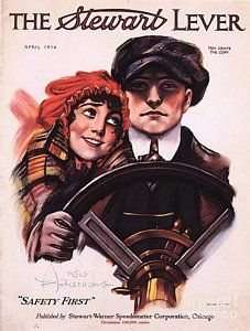 Drawing - The Stewart Lever 1910s Usa Driving by The Advertising Archives