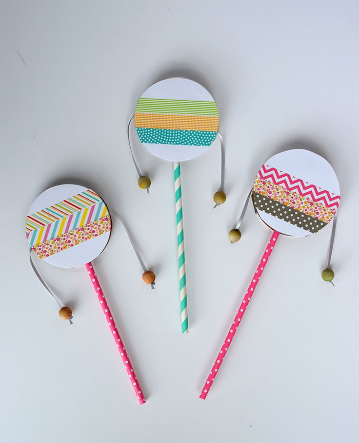 spin drum diy with washi tape
