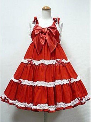 Westlichen Stil aus reiner Baumwolle ärmellose Lolita Kleid - Lolitashow.com