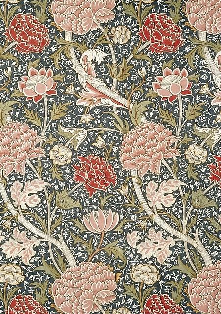 William Morris 'Cray' textile design, 1884. More