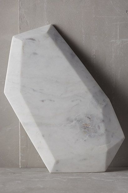 Faceted Marble Cheese Board #anthropologie  As cheeseboards go, this is pretty A++...