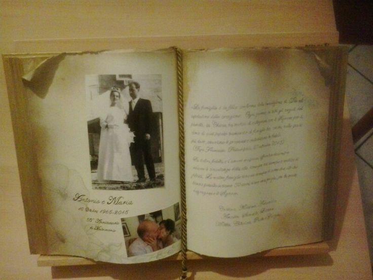 Libro scultura, nozze d'oro