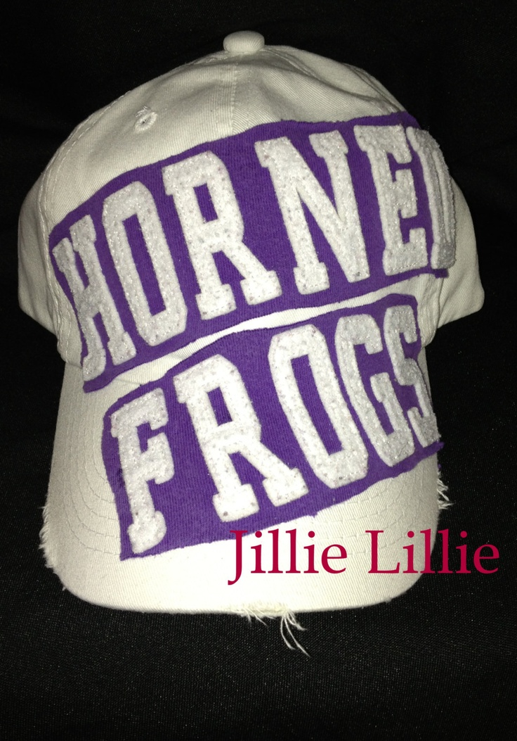 tcu baseball hat fitted rally caps woman horned frogs appliqued cap authentic