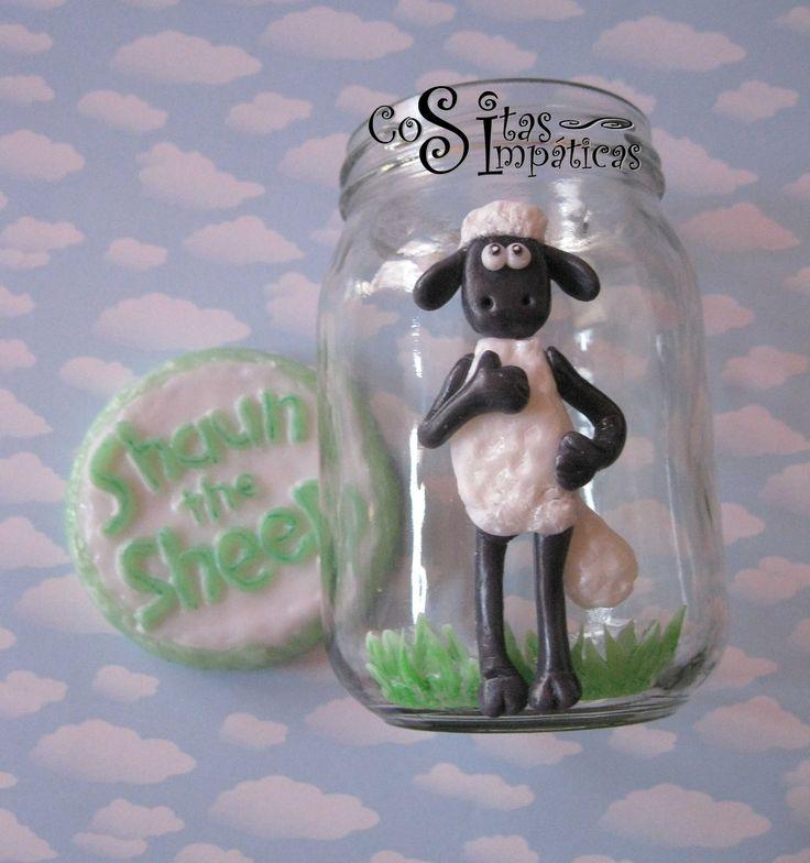 Frasco de ovejita Shaun de la película Shaun the sheep ^_^