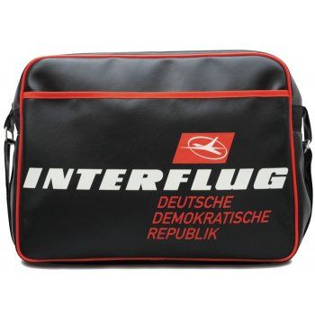 Interflug DDR Airline Sports Bag in Black