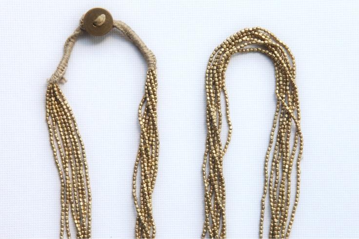 Bronze and glass collars.  Orissa style, India.