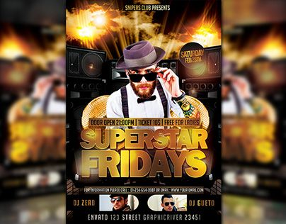 "Check out new work on my @Behance portfolio: ""Superstar Fridays"" http://be.net/gallery/34643851/Superstar-Fridays"
