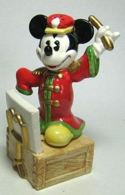 Band Concert conductor Mickey Mouse salt and pepper shaker set