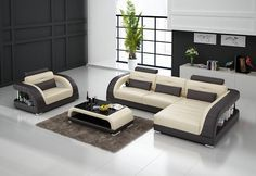 Minerva Italian Leather Sectional