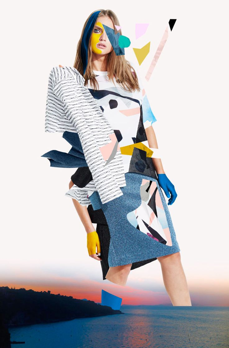 """New collaboration with the australian fashion label Lifewithbird for """"Abstraction"""" –  Summer 2015.I made an artistic interpretation of the collection through five artworks with the technique of collage."""