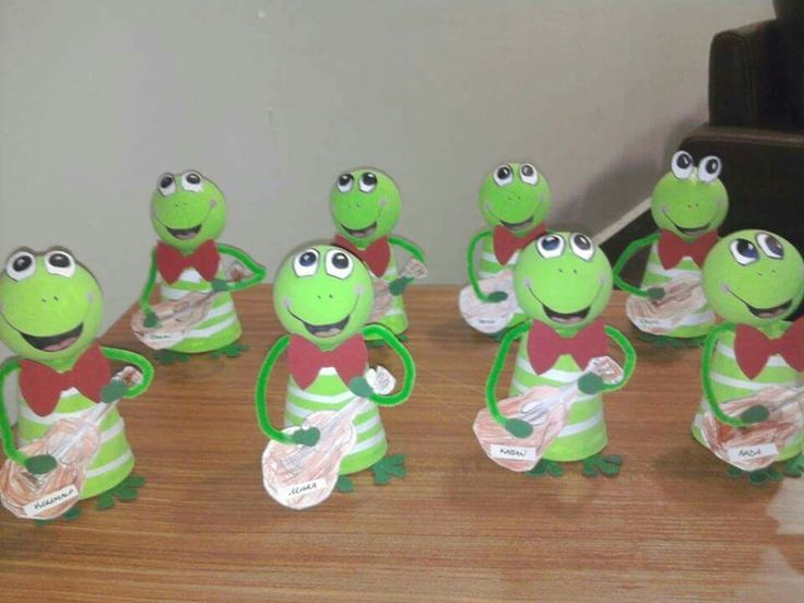 Recycled Frog Craft Idea For Kids