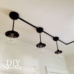 Pantry Lighting Details - DIY Show Off ™ - DIY Decorating and Home Improvement Blog, industrial track lighting.