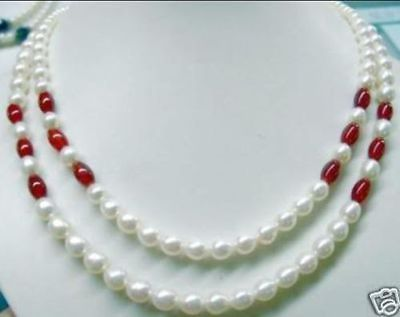 2-rows-of-cultured-pearl-red-jade-necklace18-19