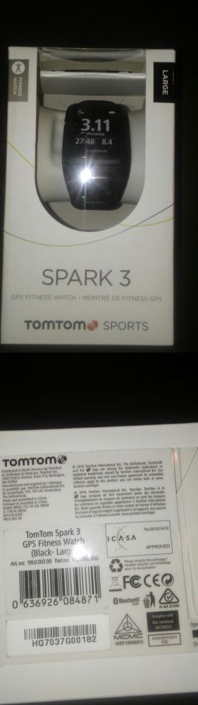 GPS and Running Watches 75230: New, Tomtom Spark 3 Gps Sports Watch Large Black -> BUY IT NOW ONLY: $100 on eBay!