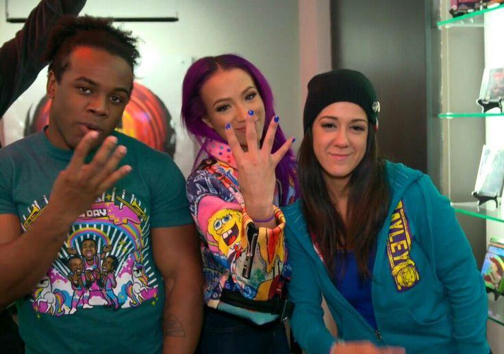 Sasha Banks, Bayley, Xavier Woods