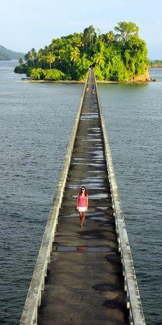 Samana Bay güzel köprü | Dominik Cumhuriyeti