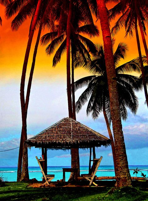 **beach in Siargao Island, Caraga, Philippines