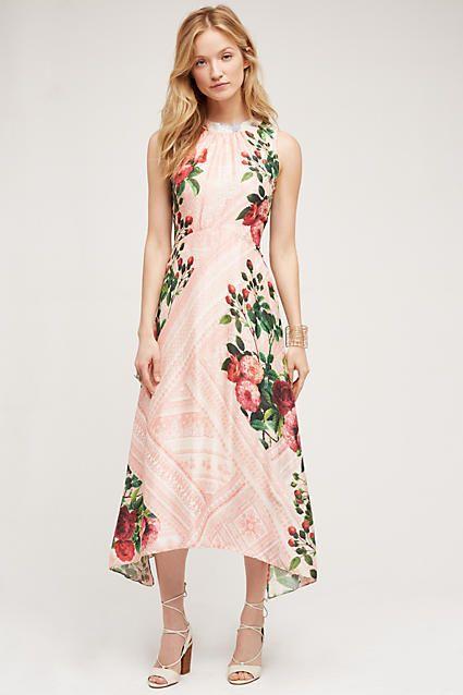 Butterfly garden midi dress dresses for Anthropologie wedding guest dresses