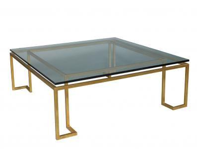 Reid Cocktail Table Glass Top W 54 D 54 H 19 Lillian August Fine Furnishings