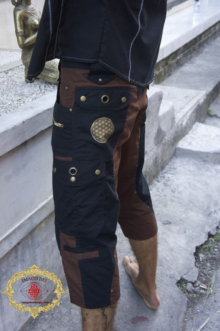 Imagoza Z1 Fashion https://www.etsy.com/shop/ImagozaZ1fashion Mens pants with Flower of life embroidery-175.00