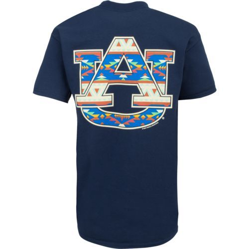 New World Graphics Women's Auburn University Logo Aztec T-shirt (Navy, Size Medium) - NCAA Licensed Product, NCAA Women's at Academy Sports