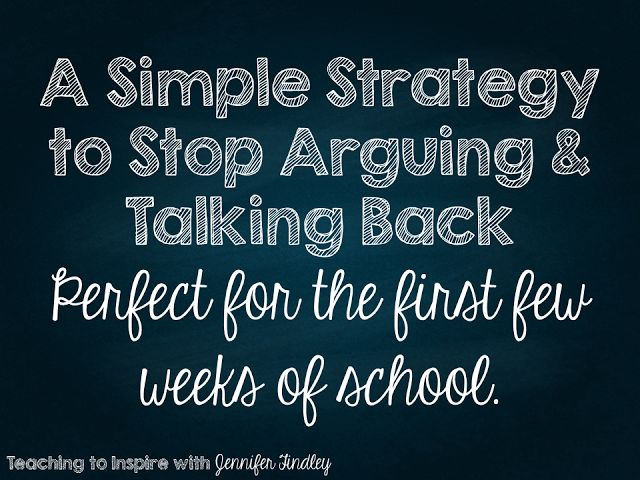A Simple Strategy to Stop Arguing and Talking Back