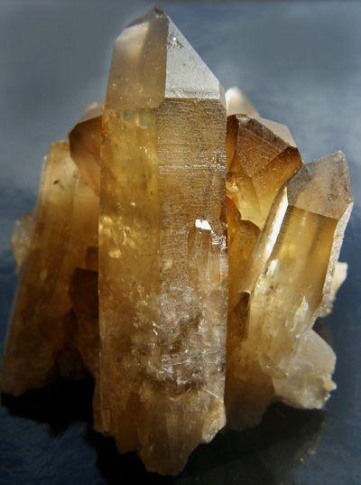 Large Natural Citrine Crystal Cluster