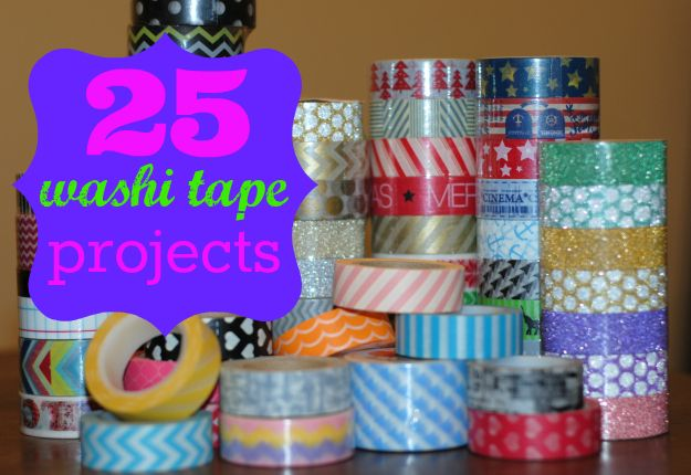 25 Uses For Washi Tape And A Giveaway Projects Include