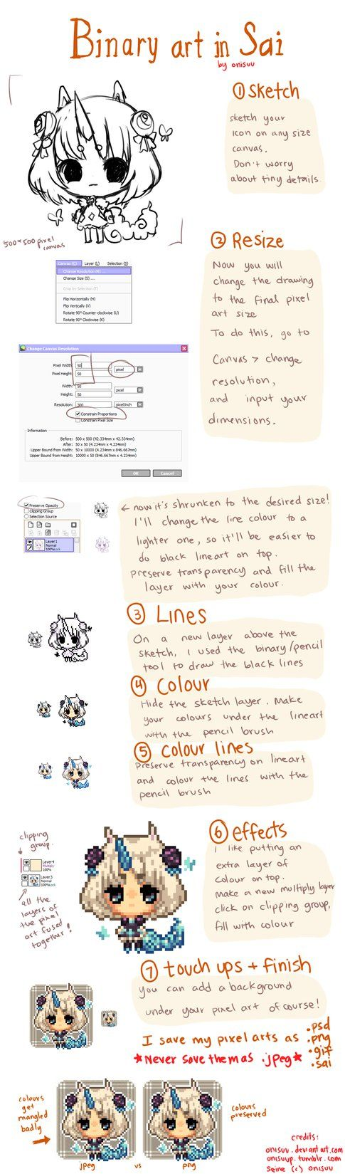 :Pixel Art Tutorial- drawing icons in SAI by onisuu on DeviantArt: