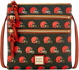 Dooney & Bourke NFL Browns Triple Zip Crossbody