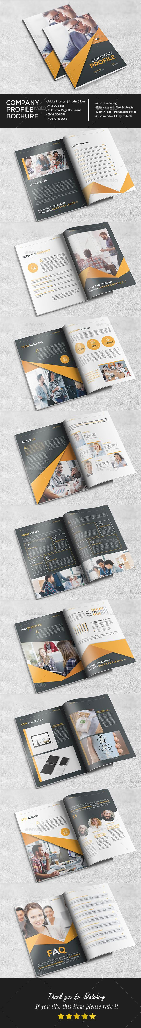 You can use this Professional company profile Brochure Design for several activities: Business,corporate,Marketing, construction, travel, mobile app, photography, real estate, etc. search tag: #Stylish #Company #Profile - #Brochures #Print #Templates