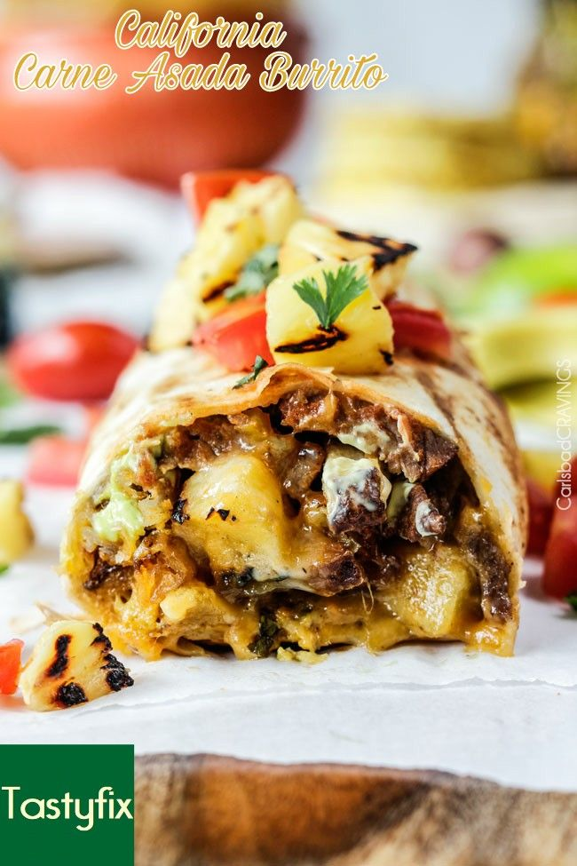 This is what we call a California burrito. It's simple yet perfect. #tasty #delicious #yummy #mexican