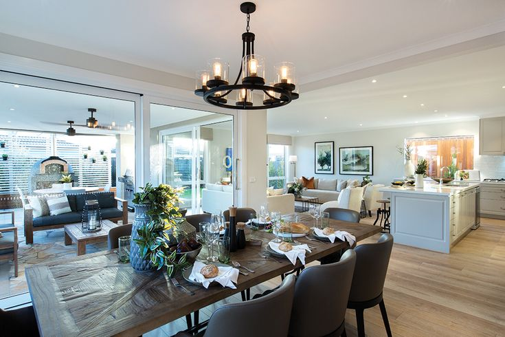 Dining room at the Bermuda display home with a Tuscany World of Style.