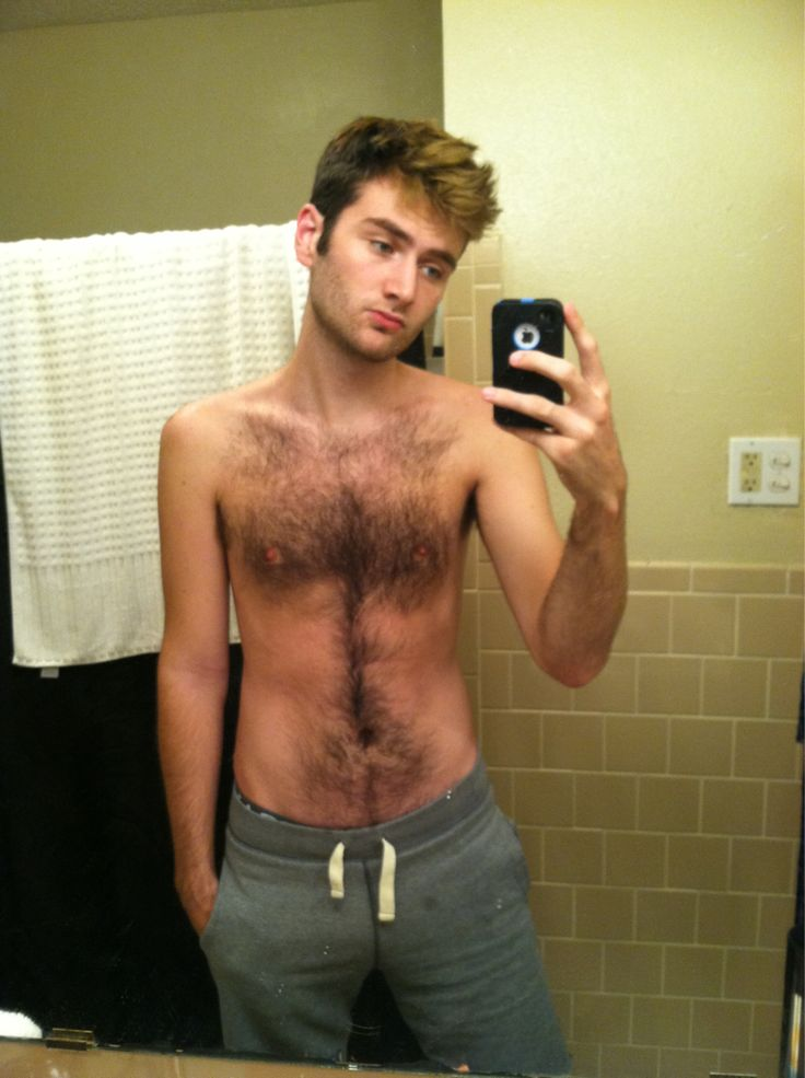 Young guys with hairy chests