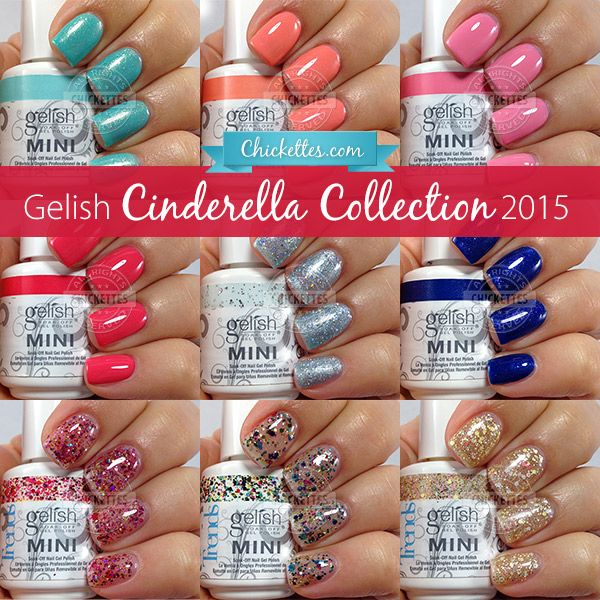 Gelish Cinderella Collection Swatches & Color Comparisons at Chickettes.com