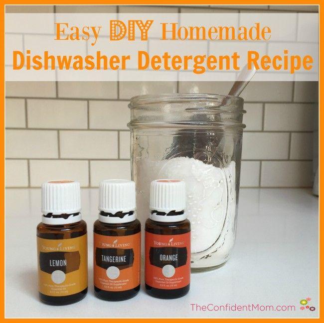 Easy DIY Homemade Dishwasher Detergent Recipe