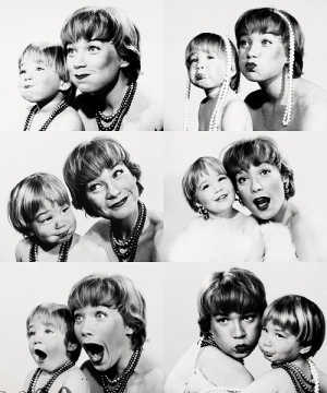 Shirley MacLaine with daughter, Sachi Parker. Photographer Allan Grant, 1959. by cindy