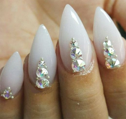 Chrome Nail Polish Designs - 25+ Beautiful Rhinestone Nails Ideas On Pinterest Nails Design