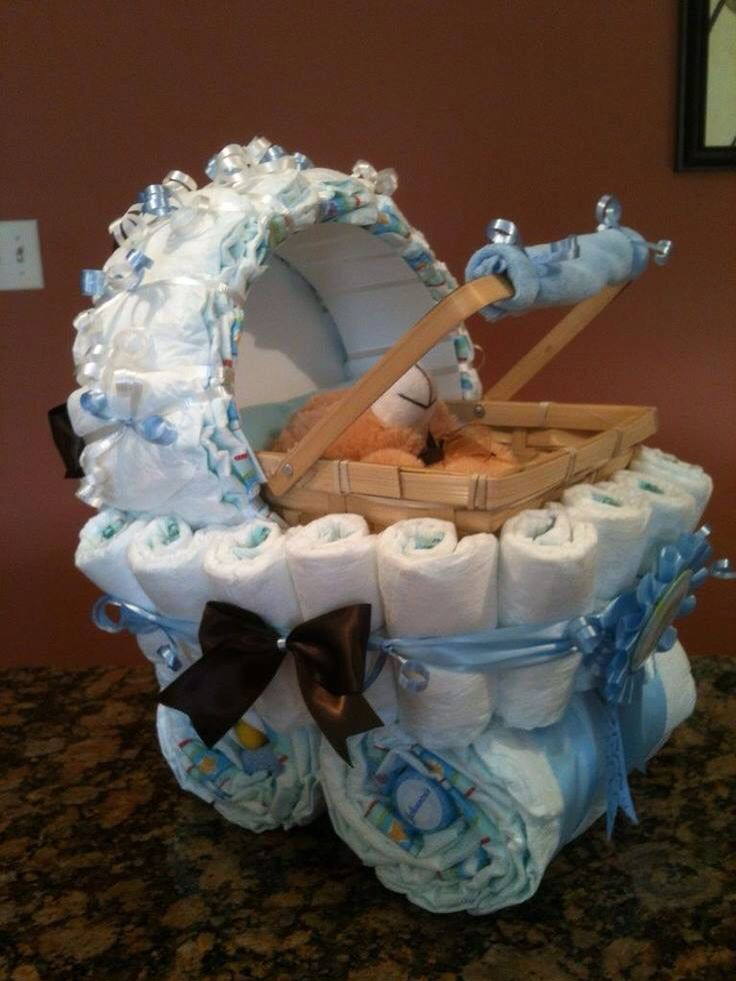 Baby shower gift - first comes love, then comes marriage, then a baby in a baby carriage.