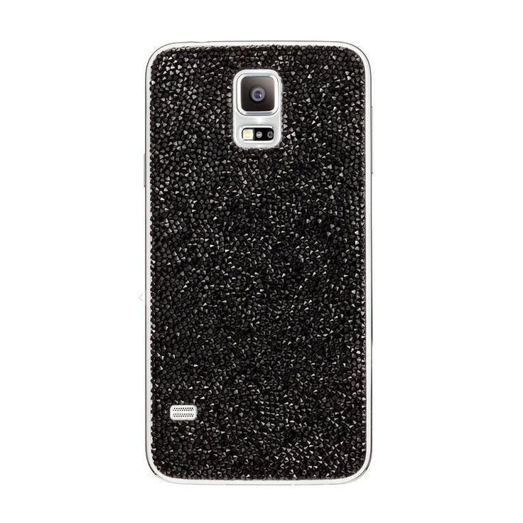 Genuine Jewelled Swarovski Crystal Battery Cover for Samsung Galaxy S5 - Black