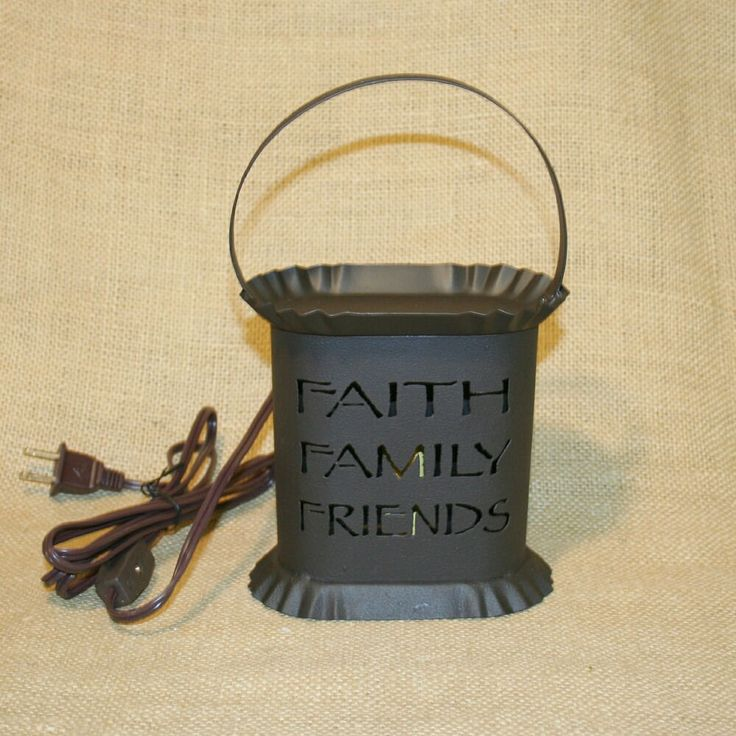 Faith Family Friends Oval Electric Tart Warmer Country Primitive #Unbranded