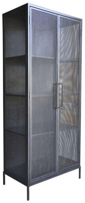 """Demian+Armoire+-+Steel+Cabinet+w/Pierced+Metal+Doors 36.5""""W+x+20.5""""D+x+83.75""""H"""