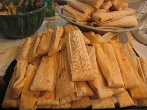 Tamales are cornmeal dumplings which may be prepared with a variety of different fillings only eaten in Christmas or other special occasions.