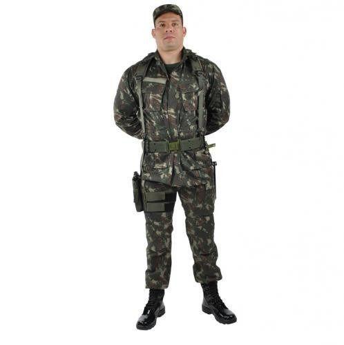 Farda Tática Uniforme Camuflado EB/Paintball/Airsoft/SWAT 20% Off MATERIAL: Farda Camuflada Rip Stop - Cedro Profissioal (Calça + Gandola - Padrão RUE) DADOS TÉCNICOS: Tecido Rip-Stop Profissional - Marca: CEDRO 67% de poliéster e 33% de algodão.