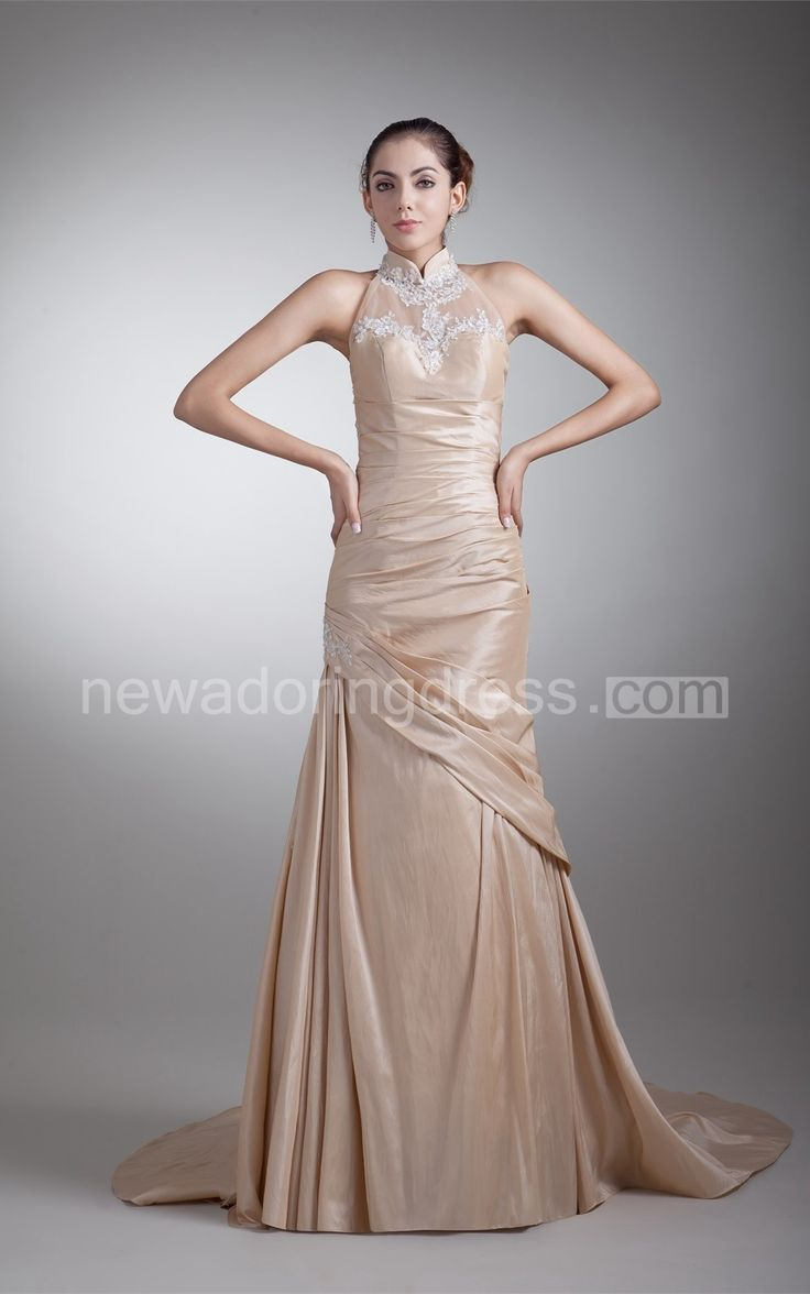 US$76.40-High Neck Sleeveless Champagne Wedding Dress with Appliques. http://www.newadoringdress.com/high-neck-sleeveless-column-dress-with-appliques-pGC_315549.html. Shop for Best wedding dresses, Lace wedding dress, modest wedding dress, strapless wedding dress, backless wedding dress, wedding dress with sleeves, mermaid wedding dress, plus size wedding dress, We have great 2016 fall Wedding Dresses on sale. Buy Wedding Dresses online at NewAdoringDress.com today!
