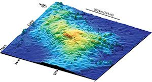 Dr. William Sager, oceanographer, has uncovered the world's largest volcano in the Pacific Ocean – about the size of New Mexico – and has named it for Texas A University. To read more about this awesome discovery, click on the image to be taken to the article in GeoNews.
