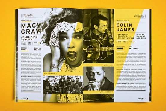 layout direction vs color direction Music-magazine-double-page-spread | BE FEARFUL OF MEDIOCRITY